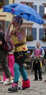 Internationaler Protesttag am 19. Juni - in Freiburg mit Wasserschlacht, Clowns, Sambasta, Speisen und etwa 50 TeilnehmerInnen - Fotos: RDL