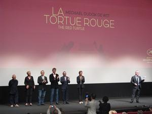 Tortue rouge red turtle Cannes film premiere Michael Dudok De Wit