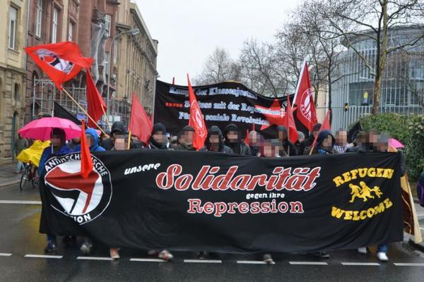 Antirepressionsdemo Mannheim