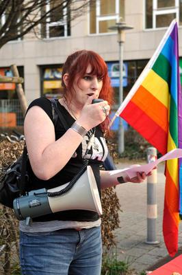 Kim Schicklang vom Verein Aktion Transsexualität und Menschenrecht (ATME)