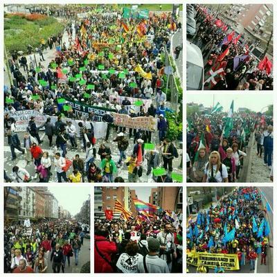 Marsch der Würde am 22. März 2014 in Madrid