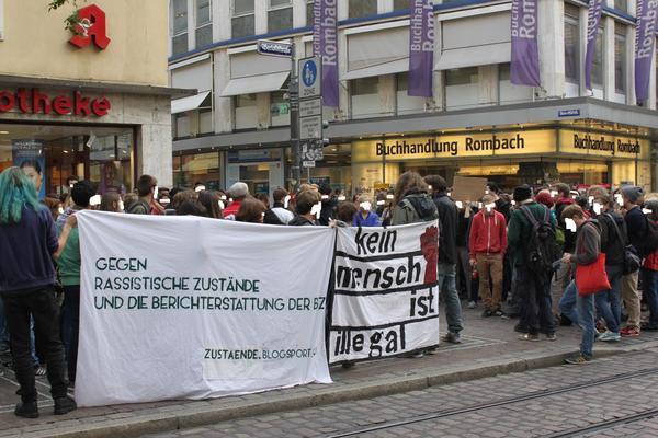 Kundgebung gegen rassistische Zustände und die Berichterstattung der BZ!