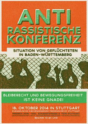 Antirassistische Konferenz zur Situation von Geflüchteten in Baden-Württemberg