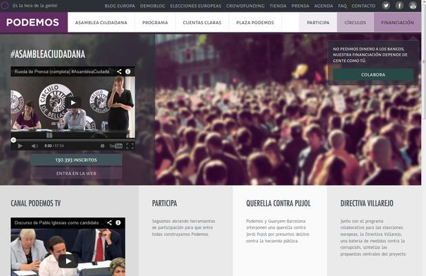 Screenshot von podemos.info