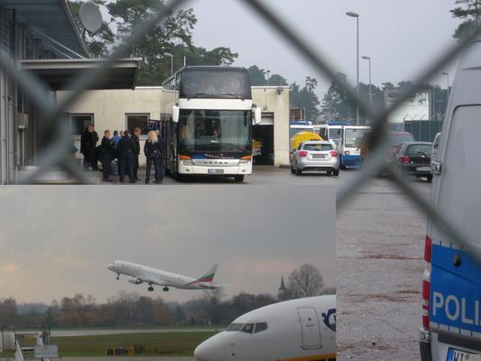 Abschiebung vom Baden-Airpark am 18.11.2014