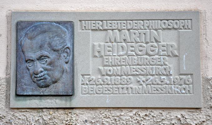 Messkirch Tafel am Heidegger-Haus