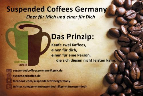 Suspended coffee Visitenkarte