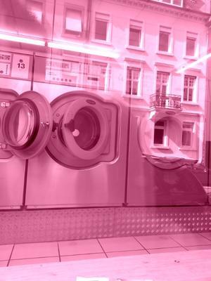 Schwule Welle Rosaroter Waschsalon