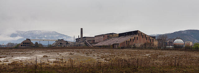 Trepça Minen in Mitrovicë, Kosovo: Hier streikten Arbeiter_innen 1989 für den Erhalt des Autonomiestatus des Kosovo und Anfang 2015 für die Wiederverstaatlichung der mittlerweile privatisierten Minen