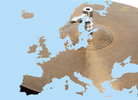 Europa als Hi-Hat eines Schlagzeugs