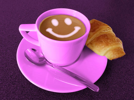 Rosaroter Kaffeeklatsch