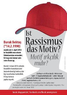 Initiative für die Aufklärung des Mordes an Burak B.