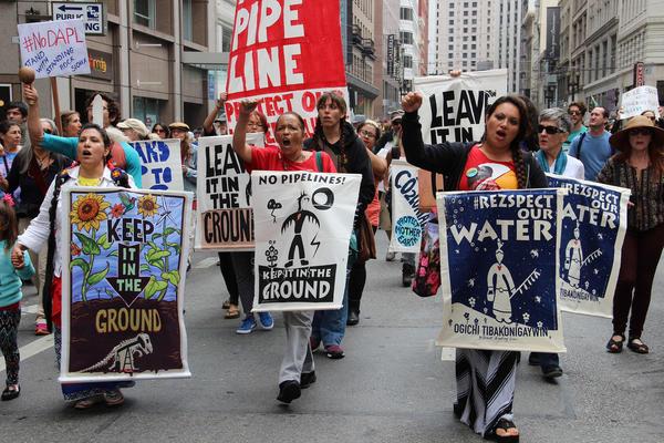 Proteste gegen die Dakota Access Pipeline