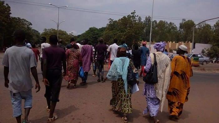 Kundgebung 2016 in Bamako gegen das Valletta-Abkommen zur Abschottung der EU vor MigrantInnen aus Afrika