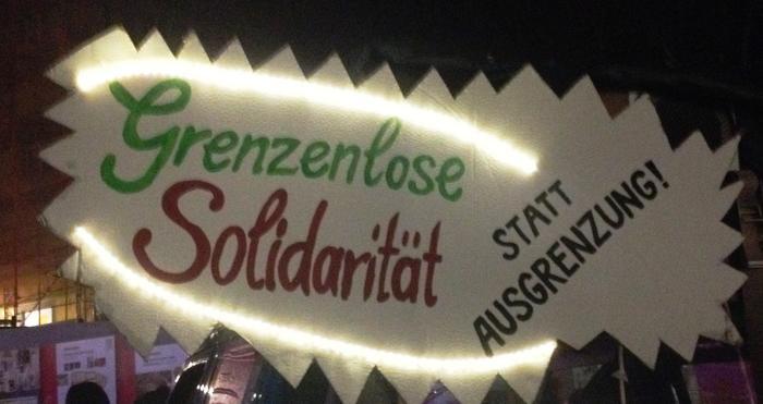 Grenzenlose Solidarität statt Ausgrenzung