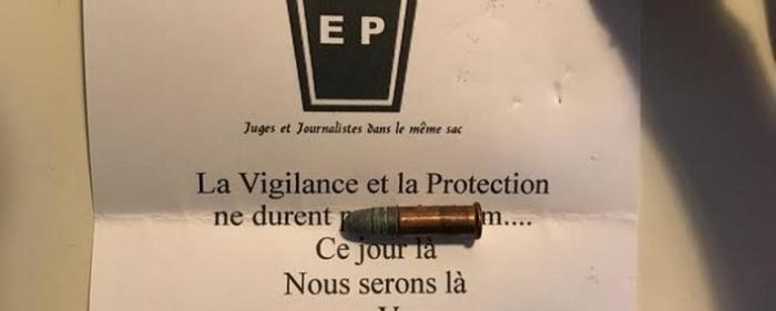 Drohbrief an Canard Enchainé