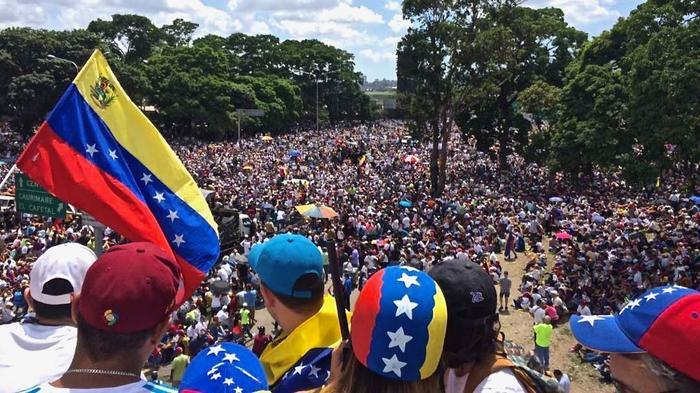 We Are Million Protestmarsch in Venezuela