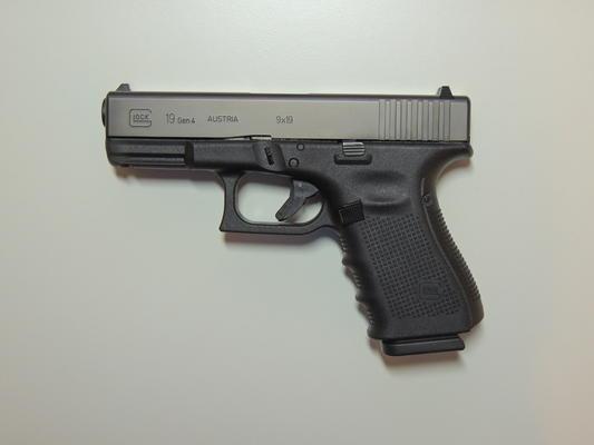 Eine Handwaffe Typ Glock 19