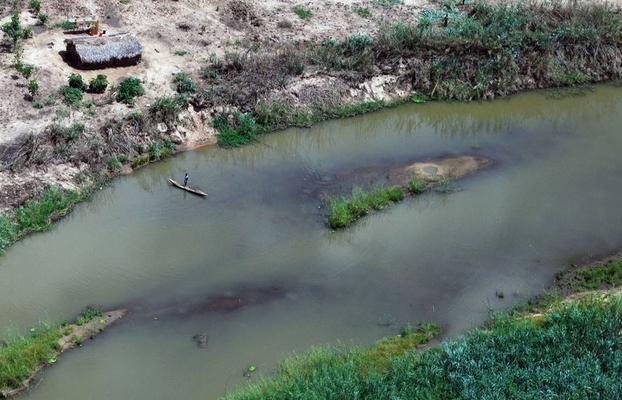 Blick auf den Rufiji River in Tansania