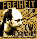 Plakat für die Freilassung von Tomas Elgorriaga Kunze