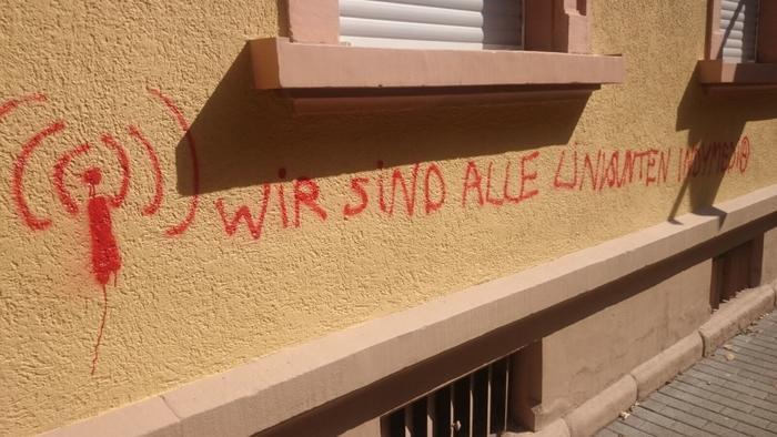 Grafitti in der Adlerstraße.
