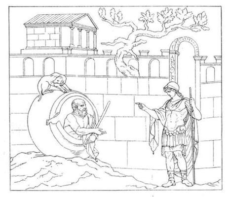 """""""Geh mir aus der Sonne!"""" Wenn alle Griech*innen so ein entspanntes Verhältnis zu Alexander dem Großen hätten wie Diogenes, gäbe es den Namensstreit nich"""