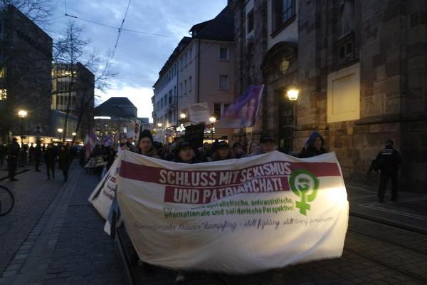 Demonstration zum Frauentag am 8. März 2018