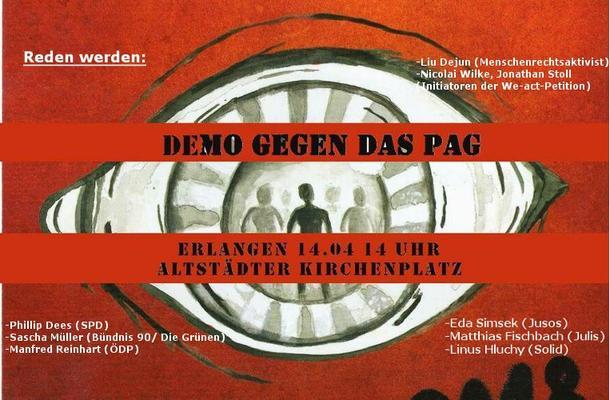 Demoflyer NO PAG Erlangen