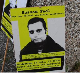 hussam Fadl Kundgebung