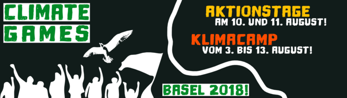 Climate Games 2018 Logo Aktionstage Klimacamp