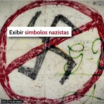 In Deutschland ist es verboten Nazi-Symbole zu zeigen...