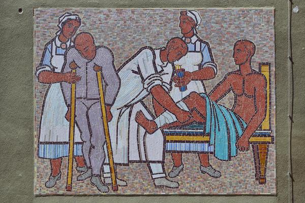 Auch hier vor allem Frauenarbeit: Krankenpflege-Mosaik in Wien