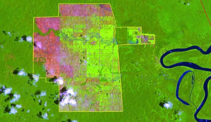 Westpapua  Kartenausschnitt