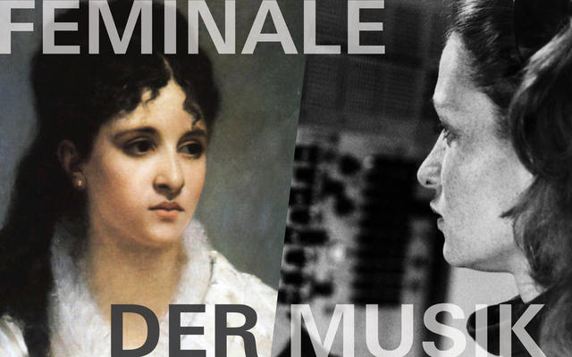 Poster für die Feminale der Musik im Zentrum für Kultur und Medien Karlsruhe