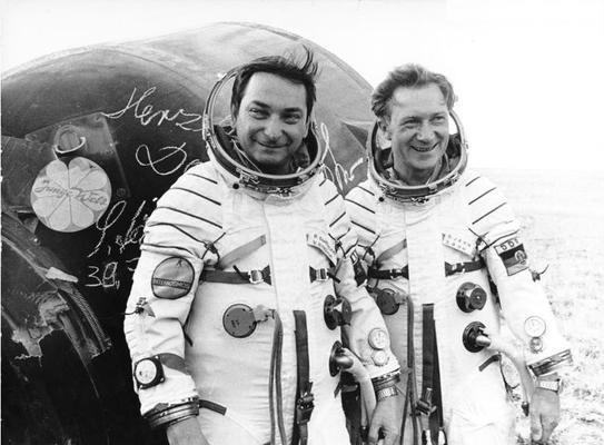 Die Kosmonauten Bykowski und Jähn