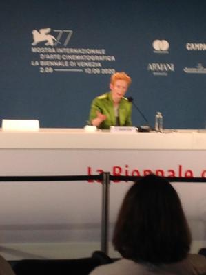 Tilda Swinton beim Filmfestival in Venedig