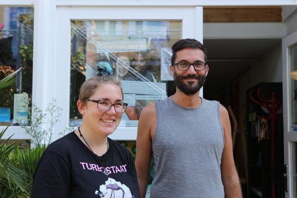 Kaja und Ronny vom CSD-Organisationsteam