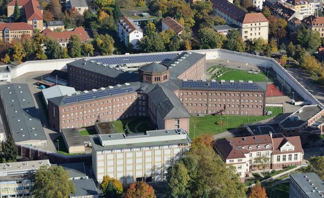 JVA Freiburg aus der Vogelperspektive