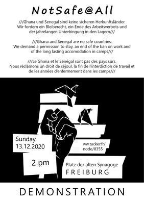 Flyer der NotSafe@All-Demonstration