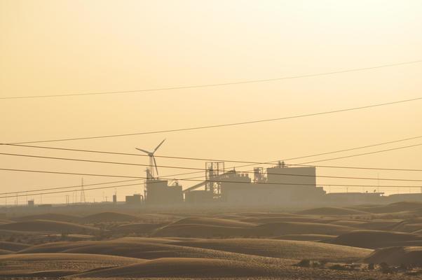 Die Ciments-du-Maroc-Einheit nahe El Aaiun, einer Tochterfirma von HeidelbergCement