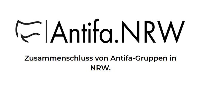 Screenshot d. Logos d. Antifa.NRW von der Homepage
