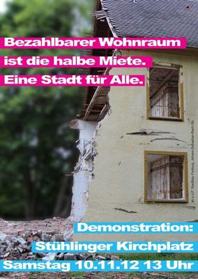 Plakat der Recht auf Stadt Demonstration 2013