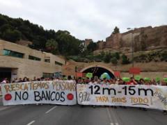 12M Protest in Malaga