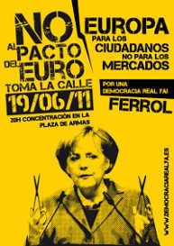Protestplakat gegen Merkel 2011
