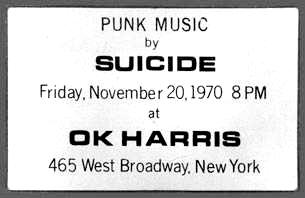 Punk Music by Suicide 1970