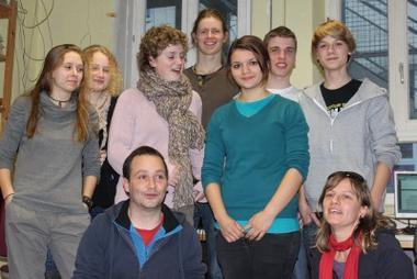 Ein Teil der Jugendredaktion im Jahr 2011