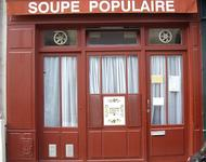 A soup kitchen in Rue Clément, Paris 6th.