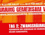"""Banner der Kampagne """"Alle für Kalle"""" gegen eine drohende Zwangsräumung in Köln"""