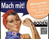 Aufruf zum Pflege am Boden Flashmob Freiburg