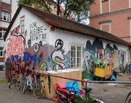 Besetztes Haus in der Gartenstraße 19